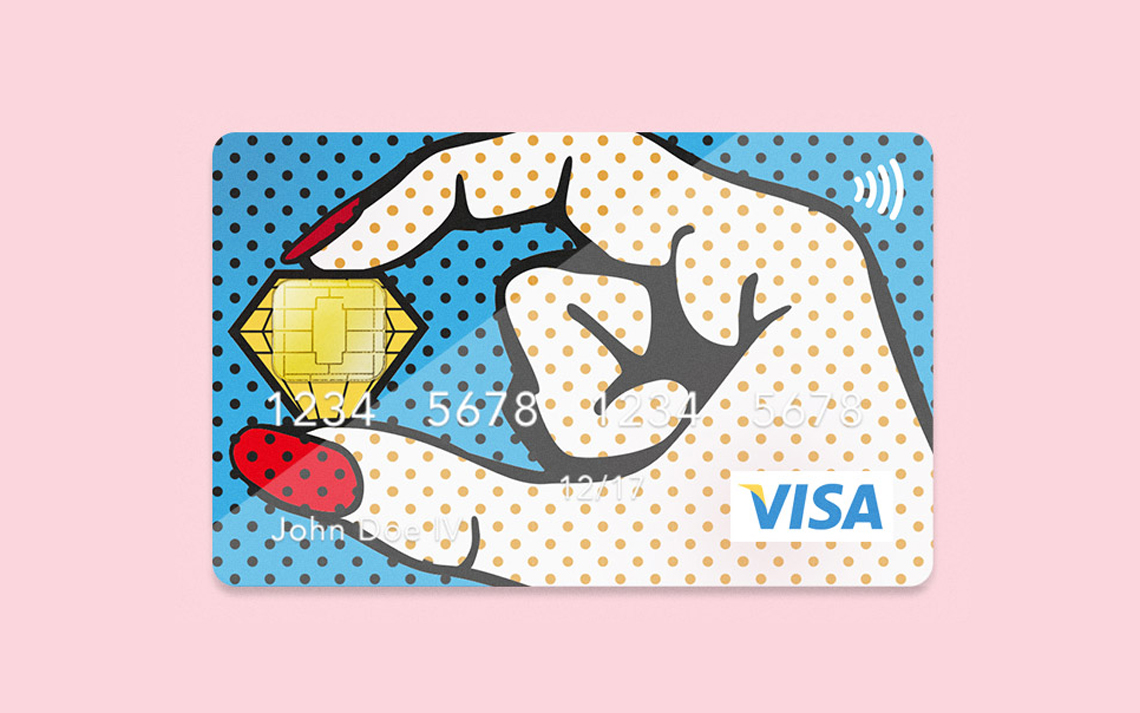 Jan Baca > Pop–Art Bank Card Design