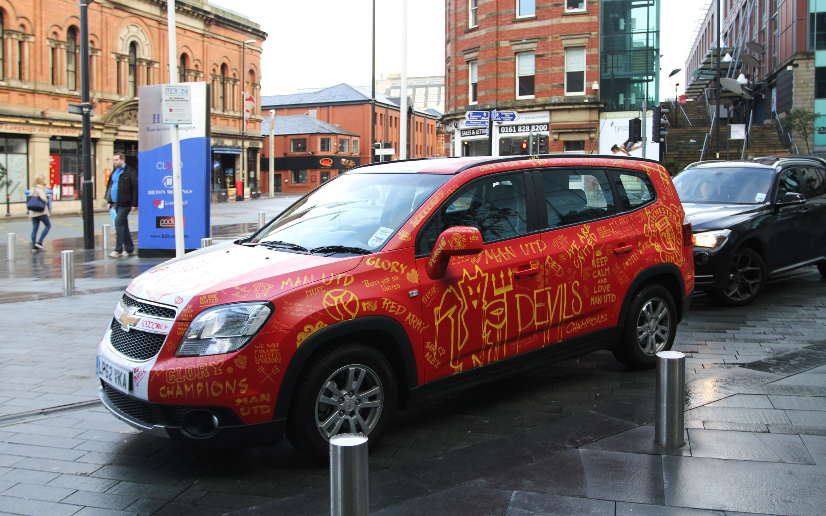 Jan Baca  Manchester United Fan Car