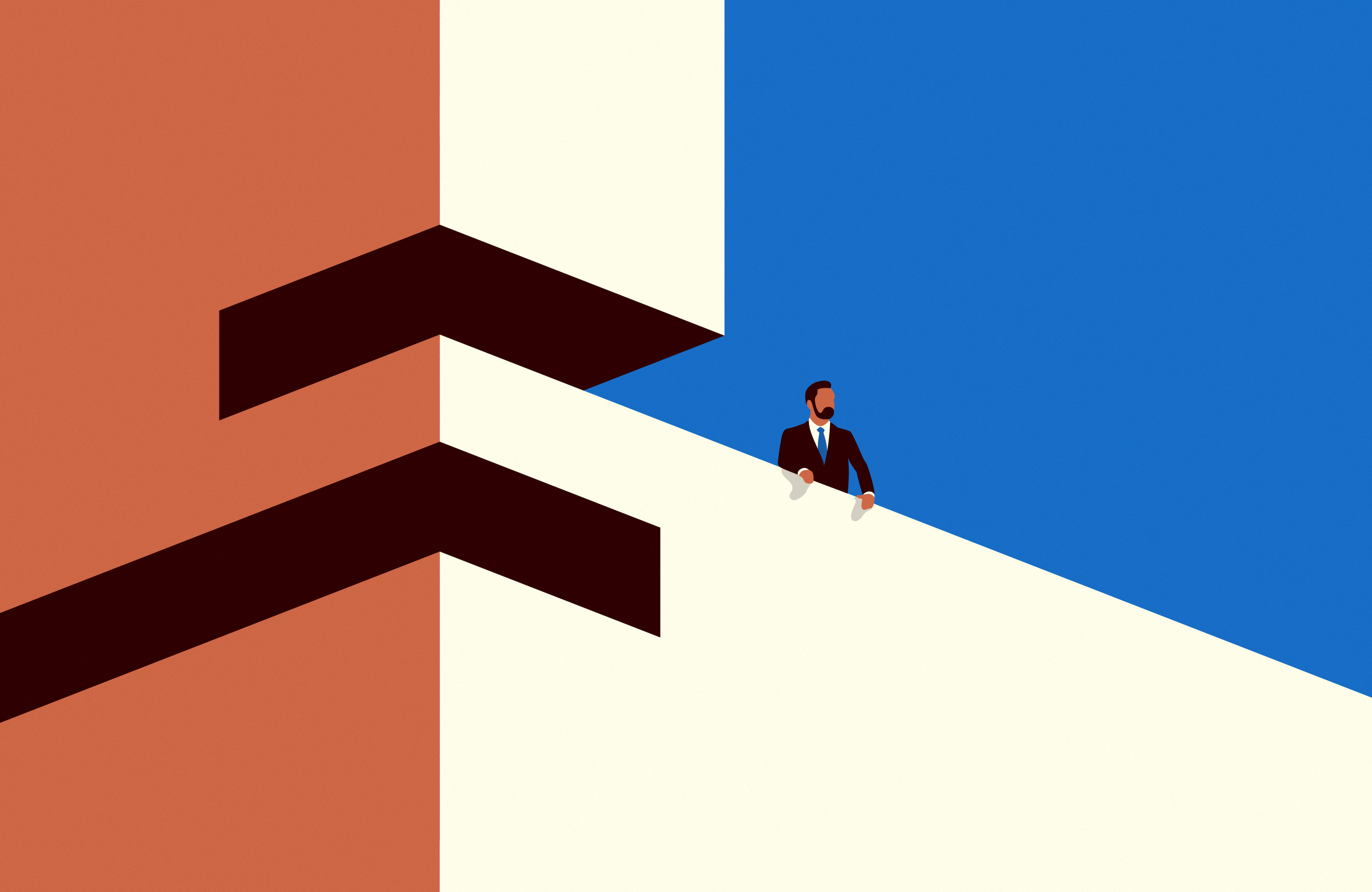Man-Standing-on-top-of-house-Illustration-